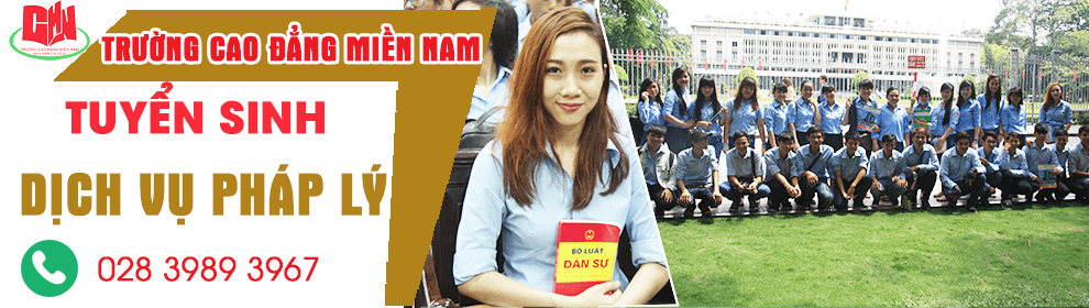 tuyển sinh ngành dịch vụ pháp lý cao đẳng tại tphcm